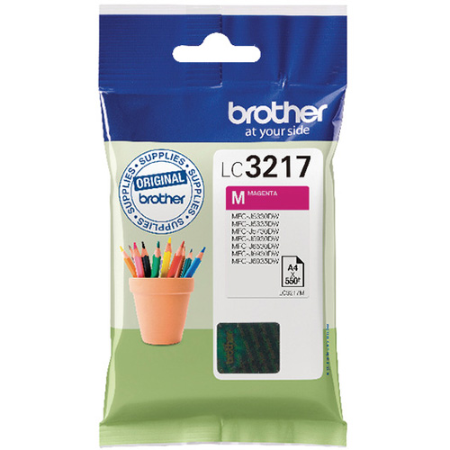 Brother LC3217 Ink Cartridge Magenta, LC-3217M Inkjet Printer Cartridge