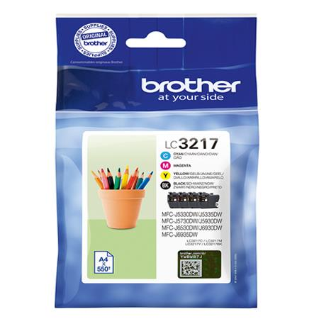 Brother LC3217 Four Ink Cartridges Multipack (LC3217BK/LC3217C/LC3217M/LC3217Y)