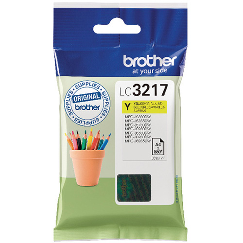 Brother LC3217 Ink Cartridge Yellow, LC-3217Y Inkjet Printer Cartridge