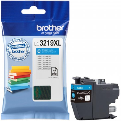 Brother LC3219XL Ink Cartridge Cyan, LC-3219XLC Inkjet Printer Cartridge