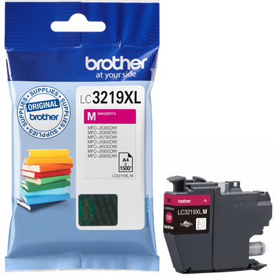 Brother LC3219XL Ink Cartridge Magenta, LC-3219XLM Inkjet Printer Cartridge