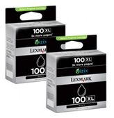 Lexmark 100-XL High Capacity Twin Pack Black Return Program Ink Cartridges - 014N0848E