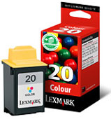 Lexmark High Capacity No 20 Colour Ink Cartridge - 15MX120E