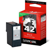 Lexmark 42 Return Program Black Ink Cartridge - 018Y0142E