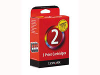 Lexmark No 2 Triple Pack Colour Ink Cartridge - 080D2965 ( 3 Ink Cartridges )