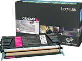 Lexmark C5240MH High Capacity Return Program Magenta Toner Cartridge, 5K Page Yield