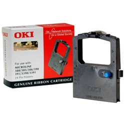 Oki Black Nylon Fabric Printer Ribbon 9002309