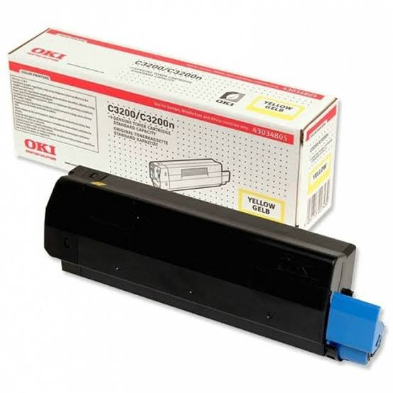 Oki Yellow Laser Toner Cartridge, 1.5K Yield