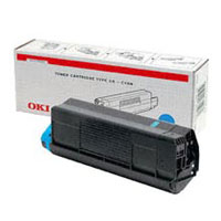 Oki Cyan Laser Toner Cartridge, 1.5K Yield