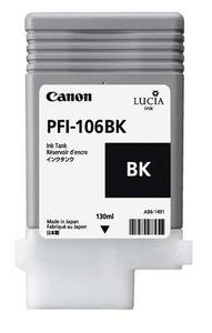 Canon PFI 106BK Black Ink Cartridge, 130ml