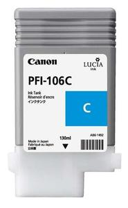 Canon PFI 106C Cyan Ink Cartridge, 130ml
