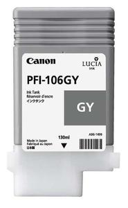 Canon PFI 106GY Grey Ink Cartridge, 130ml