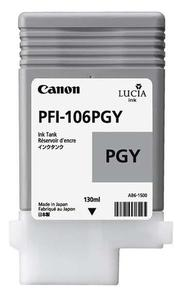 Canon PFI 106PGY Photo Grey Ink Cartridge, 130ml
