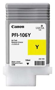 Canon PFI 106Y Yellow Ink Cartridge, 130ml