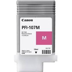 Canon PFI 107M Magenta Ink Cartridge, 130ml - 6707B001AA