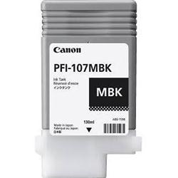Canon PFI 107MBK Matte Black Ink Cartridge, 130ml - 6704B001AA