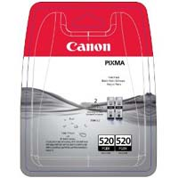 Canon PGI 520BK2 Pigmented Twin Black Ink Cartridges ( 520BK2 )