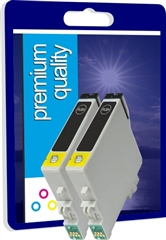 Premium Quality High Capacity Twin Pack Compatible Black Ink Cartridges for T044140, 2 x 18ml