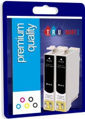Premium Quality Twin Pack Compatible Black Ink Cartridges for T080140, 2 x 19ml