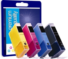 Premium Quality Multi Pack 3eBK/6C/M/Y Ink Cartridge for Canon BCI-3eBK and BCI-6CMY