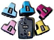 Replacement Multi Pack High Capacity Black/Cyan/Magenta/Yellow/ Light Cyan/ Light Magenta Ink Cartridges (Alternative to HP 363)
