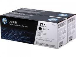 HP Original 12A Twin Pack Laser Toner Cartridges - Q2612AD