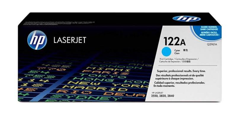 HP Original Q3961A Cyan Laser Toner Cartridge (122A)