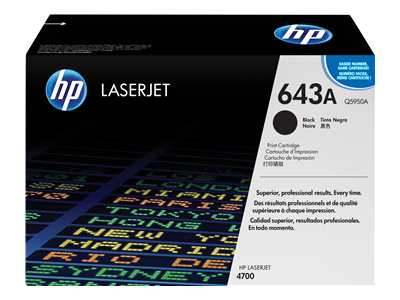 HP Q5950A Black Laser Toner Cartridge (643A)