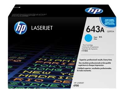 HP Q5951A Cyan Laser Toner Cartridge (643A)
