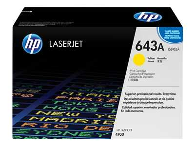 HP Q5952A Yellow Laser Toner Cartridge (643A)