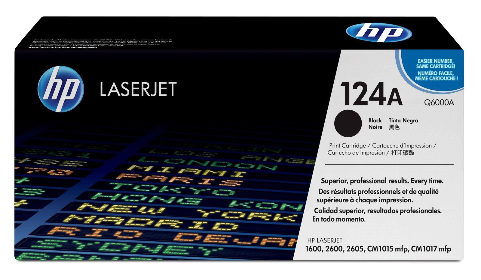 HP Q6000A Black Laser Toner Cartridge (124A)