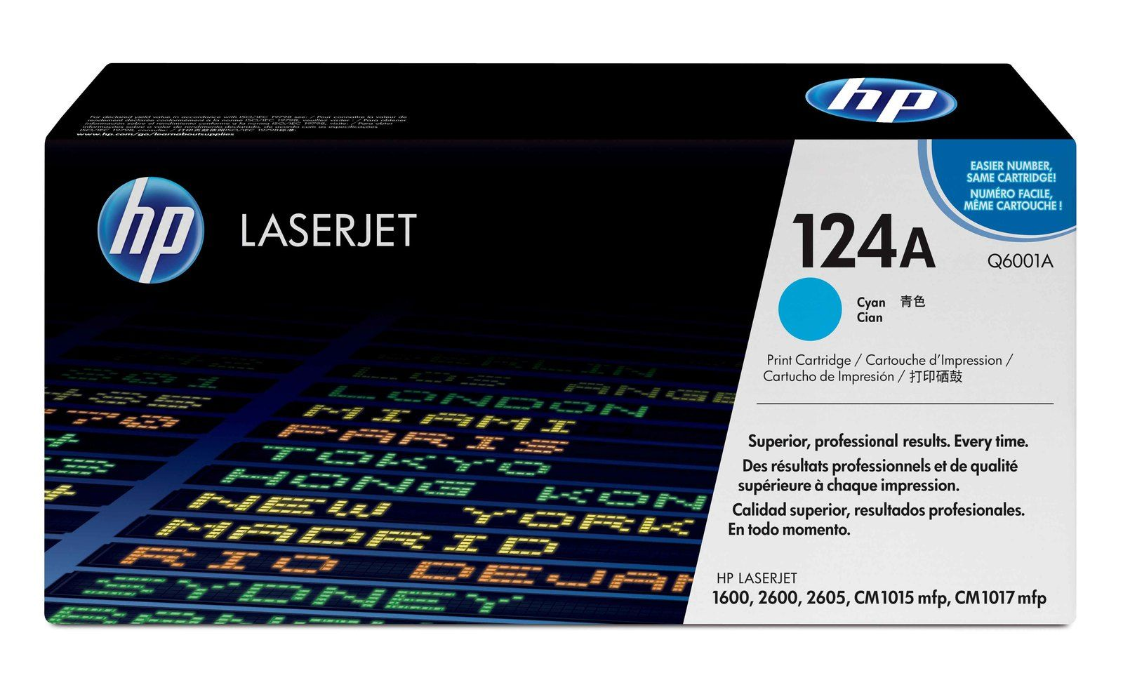 HP Q6001A Cyan Laser Toner Cartridge (124A)