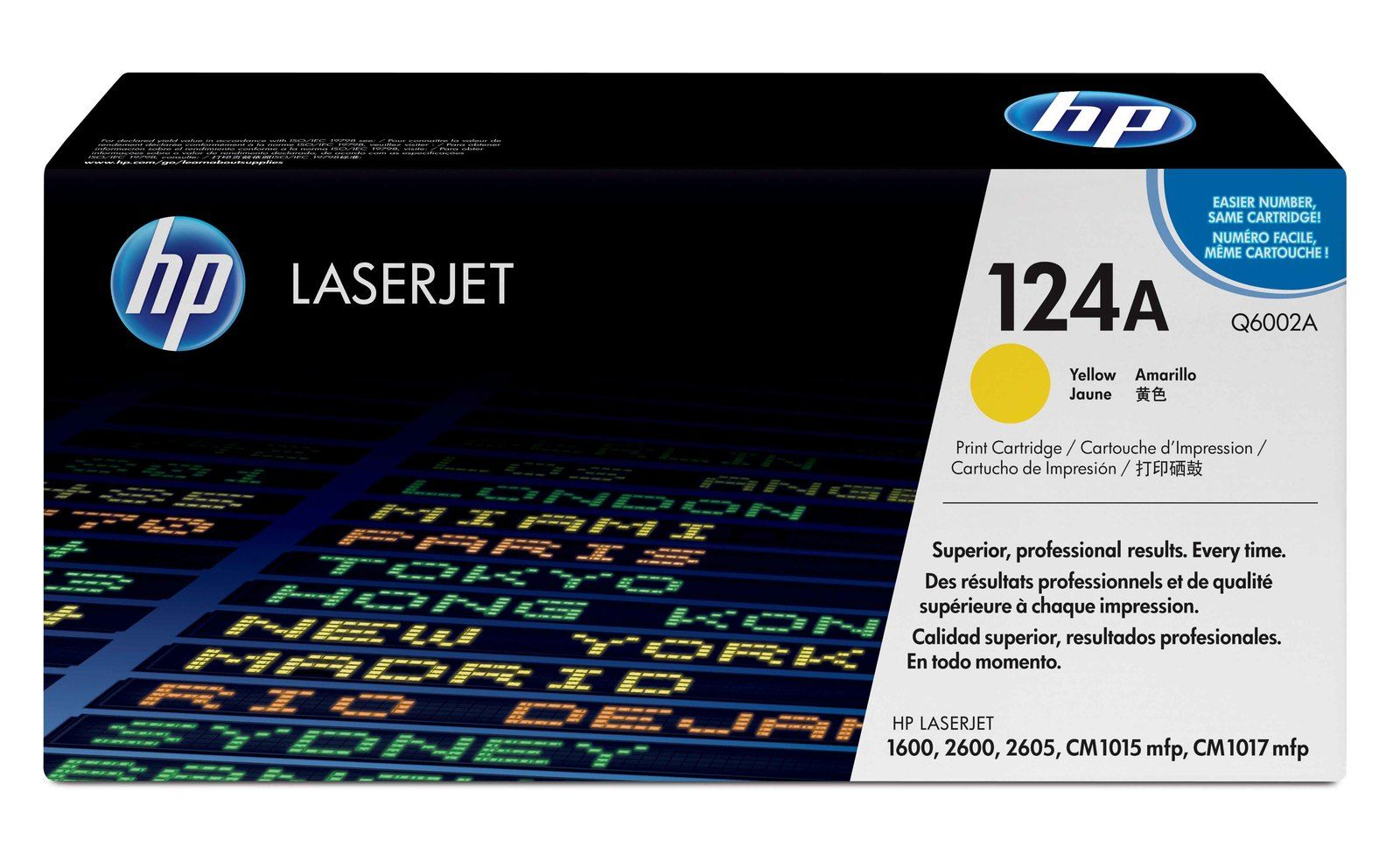 HP Q6002A Yellow Laser Toner Cartridge (124A)