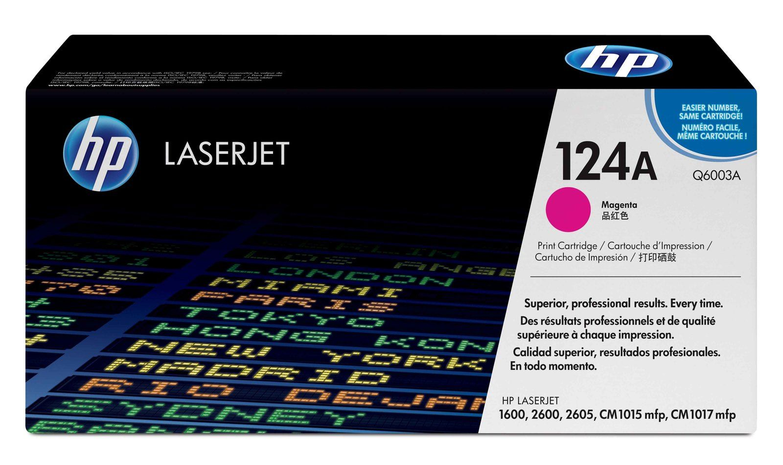 HP Q6003A Magenta Laser Toner Cartridge (124A)