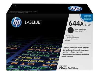 HP 644A Black Laser Toner Cartridge - Q6460A