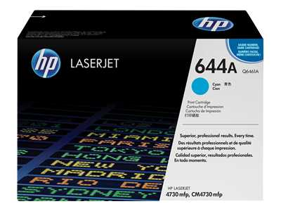 HP 644A Cyan Laser Toner Cartridge - Q6461A