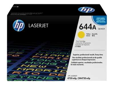 HP 644A Yellow Laser Toner Cartridge - Q6462A
