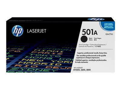 HP 501A Black Laser Toner Cartridge - Q6470A