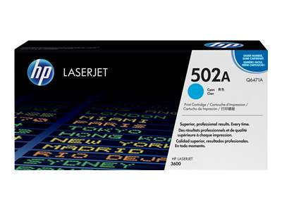 HP 502A Cyan Laser Toner Cartridge - Q6471A