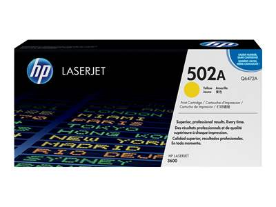 HP 502A Yellow Laser Toner Cartridge - Q6472A