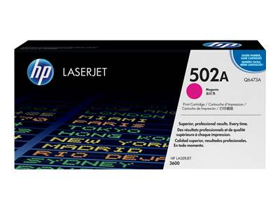 HP 502A Magenta Laser Toner Cartridge - Q6473A