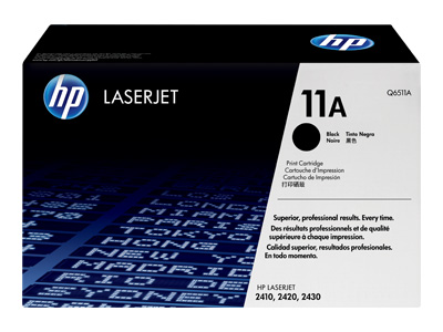 HP 11A Black Laser Toner Cartridge - Q6511A