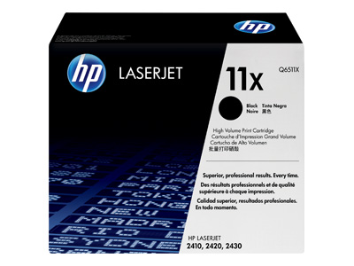 HP 11X High Capacity Black Laser Toner Cartridge -Q6511X