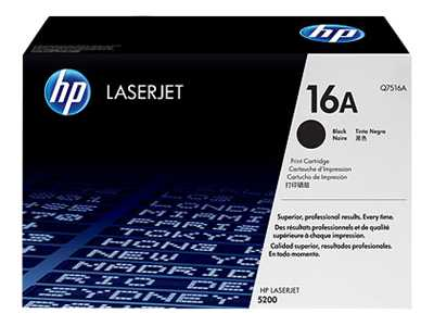 HP 16A Black Laser Toner Cartridge - Q7516A