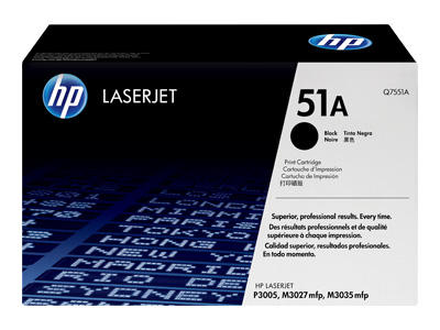 HP 51A Standard Capacity Black Laser Toner Cartridge - Q7551A