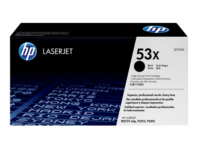 HP 53X High Capacity Black Laser Toner Cartridge- Q7553X