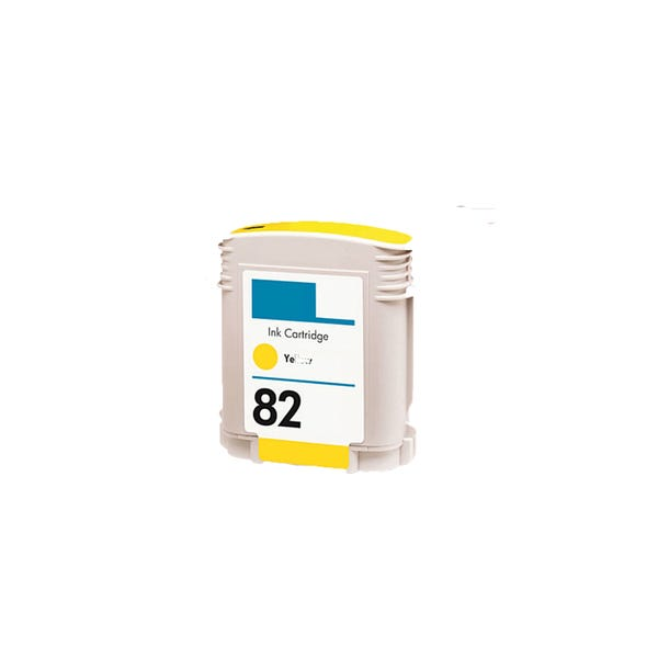 Replacement High Capacity Yellow Ink Cartridge (Alternative to HP No 82, C4913A)