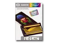 "Sagem DSR 400T Printing Kit, Colour Ribbon Cartridges plus 120 Sheets 4"" x 6"" Post Card Size Photo Paper"