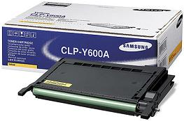 Samsung CLP Y600A Yellow Laser Toner Cartridge