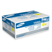 Samsung CLT Y5082L High Capacity Yellow Laser Toner Cartridge, 4K Page Yield